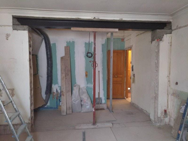cr ation ouverture mur porteur en briques paris sarl. Black Bedroom Furniture Sets. Home Design Ideas