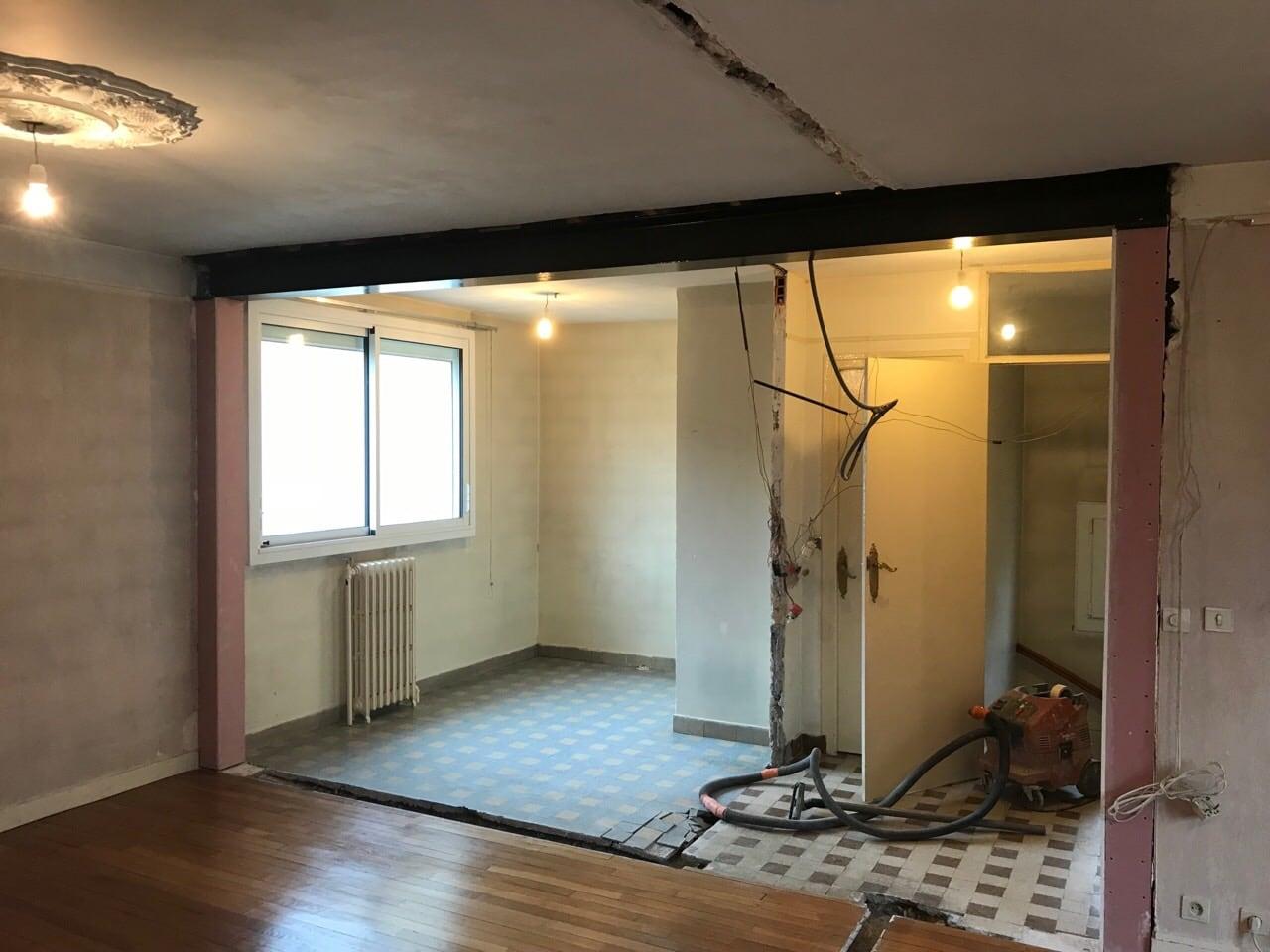 casser un mur porteur ouverture dans le mur porteur. Black Bedroom Furniture Sets. Home Design Ideas