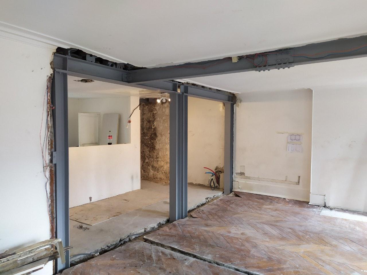 Murs porteurs - Démolition de mur de refend dans une maison individuelle à Toulon. 2