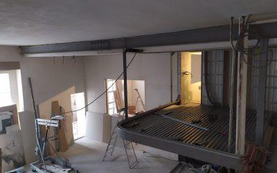 Réalisation de mezzanine sur mesure à Champigny-sur-Marne. Création de plancher collaborant.