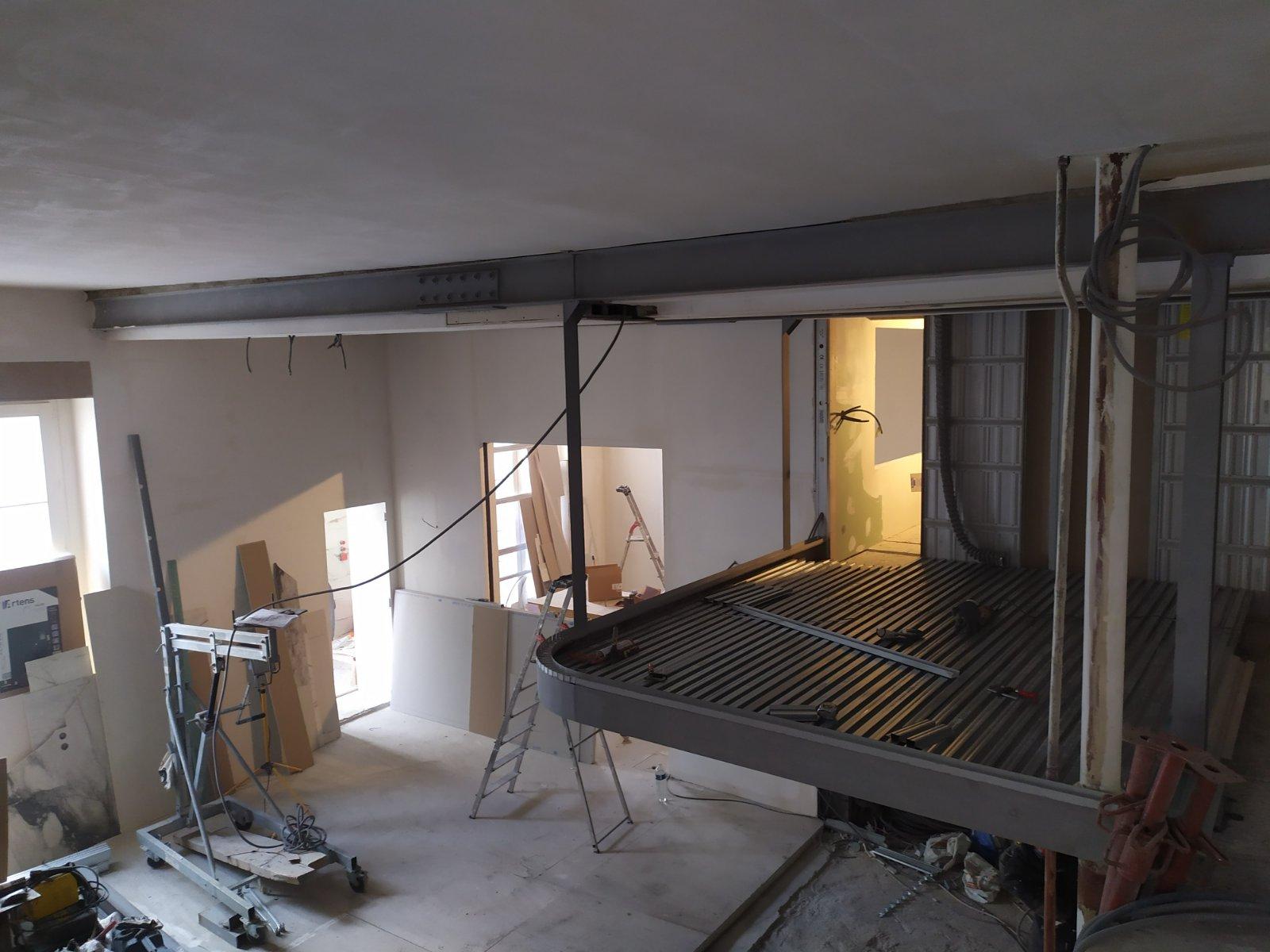 Mezzanine Plancher collaborant - Réalisation de mezzanine sur mesure à Champigny-sur-Marne. Création de plancher collaborant. 1