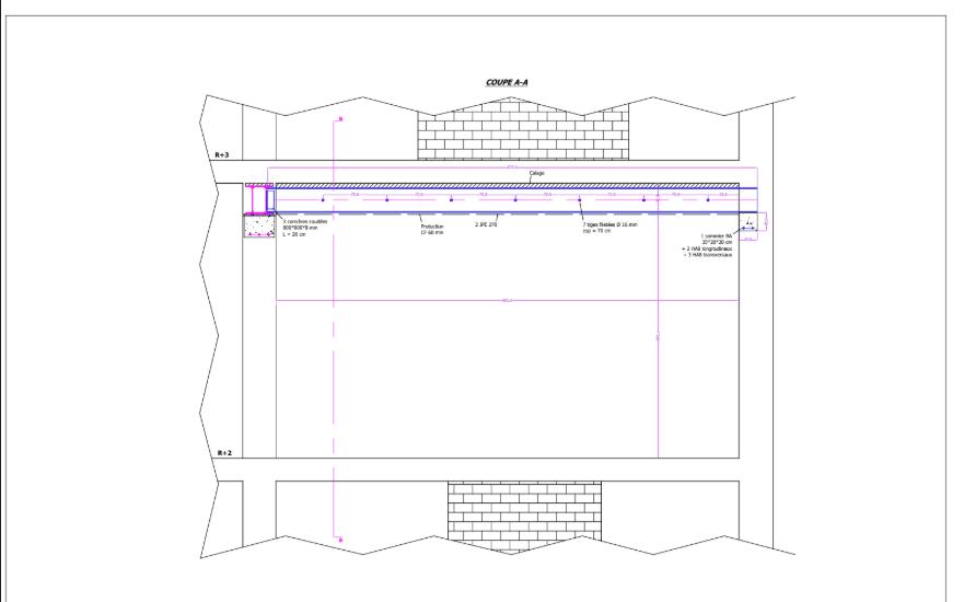 Ouverture de mur porteur à conduits à Tourrettes-sur-Loup. Consolidation par structure métallique - Murs porteurs