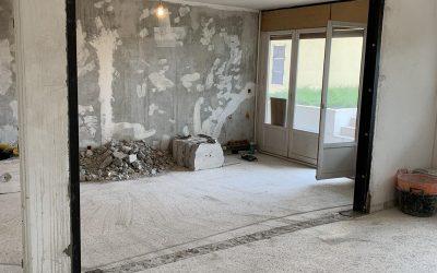 Création d'une ouverture dans un mur porteur à Trayas