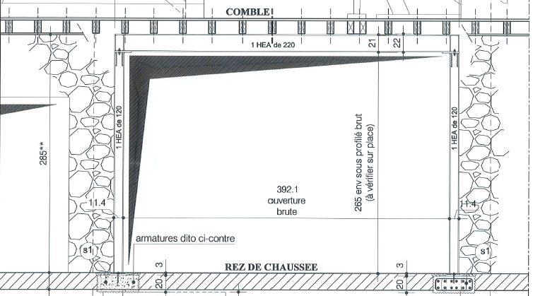 Réalisation d'un portique métallique à la place d'une cloison en charge au RDC à Aix-en-Provence. - Murs porteurs